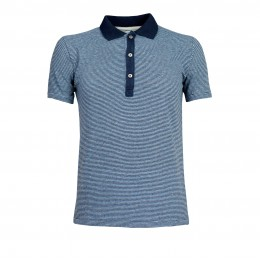 HEREN Bruce Polo - Indigo Striped